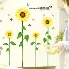 sunflower wall decals sunflower wall sticker for living room wall stickers home decor home decoration sunflower