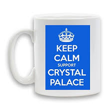 Keep Calm And Support Crystal Palace Designed Mug Ceramic 11oz Heavy Funny Novelty Gift White Coffee Tea Beverage Container By Kaboom Gifts