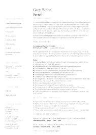 Payroll Accountant Resume Llun Fascinating Payroll Resume