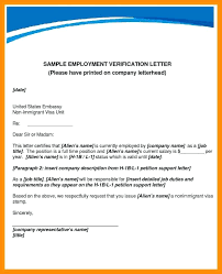 letter of employment confirmation salary verification letter employee letters work past template
