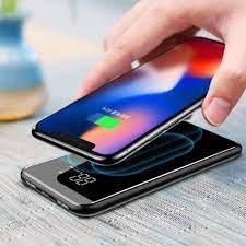 Shop bán Sạc không dây siêu mỏng siêu đẹp thông minh chuẩn Qi kiêm pin dự  phòng Baseus 8000 mAh cho Iphone 8, iphone X,Samsung Galaxy S9, Note8