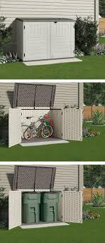 diy patio ideas pinterest. Suncast Stow-Away 3 Ft. 8 In. X 5 11 Resin Horizontal Storage Shed Diy Patio Ideas Pinterest