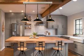 Barn Lights For Kitchen Industrial Adjustable Black Kitchen Island Lighting 3 Light Barn Shape Pendant Lights