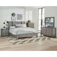 rustic king bedroom set. rustic casual gray 6-piece california king bedroom set - nelson