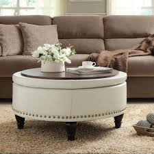 round glass coffee table with ottomans photo 1