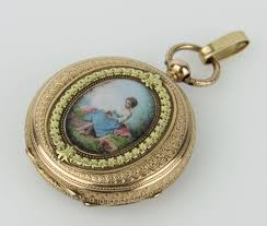 antique 18k gold swiss enamel las pocket watch french hallmarks