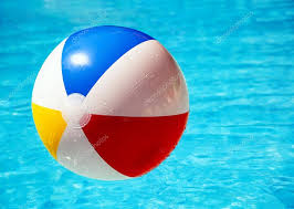 beach ball in pool. Beach Ball Floating In Swimming Pool Abstract Concept For Summer Vacations, Relaxation And Fun The Sunshine \u2014 Photo By BrianAJackson