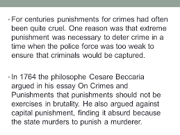 toward a new social science ppt video online for centuries punishments for crimes had often been quite cruel