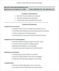 Functional Resume Format Inspiration 5918 Functional Executive Resume Format Template Functional Executive