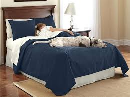 reversible dog proof coverlet and matching shams standard sham each navy pet hair resistant bedding bedspread