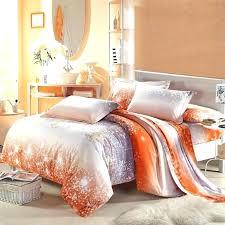 cherry blossom comforter set amazing cotton bedding sets in grey orange inside queen prepare and brown orange bedspread