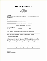 A Job Resume 100 blank resume form for job application Essay Checklist 82