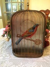 Free shipping on many items | browse your favorite brands | affordable prices. Vtg Metal Half Bird Cage Wall Decor 1932055486