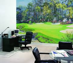 the 13th at augusta wall mural golf art giclee