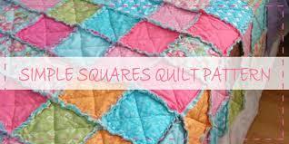 10 Free Rag Quilt Patterns & Tutorials For Beginners & Simple Squares Rag Quilt Pattern Adamdwight.com