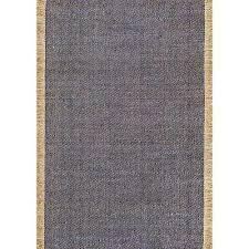 solid tassel amalia blue 6 ft x 9 ft area rug