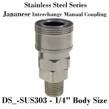Stainless Steel Japanese Interchange Manual Coupler 1 4 Inch Body Size