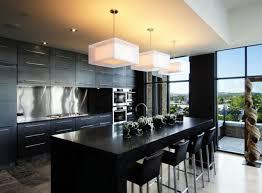 Simple Modern Black Kitchens Elegant And Kitchen Designs Throughout Inspiration
