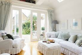 chic living room dcor:  lovely drapes and frilled decor fashion a classic setting design whitstable island interiors