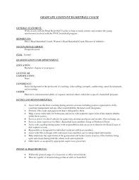 Coaching Resume Examples Examples Of Resumes