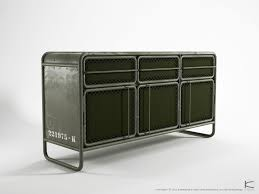 contemporary sideboard  metal  recycled  ds  karpenter