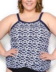 Penbrooke Swimwear Size Chart Penbrooke I Cloud Full Figure Crossover Tankini Top Swimco