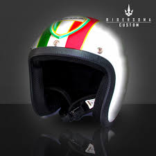 Italian Flag Vespa Shield Helmet