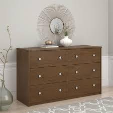 Kmart Bedroom Furniture Essential Home Belmont 6 Drawer Dresser Walnut Home