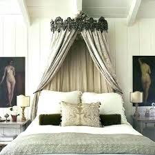 Black Canopy Bed Frame Sheer Curtains Full Size Of Bedroom Fra ...