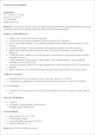 Career Objectives Resume Examples Job Fair Resume Example General