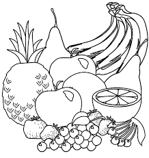 Kleurplaat Keuken Koken Eten Fruit