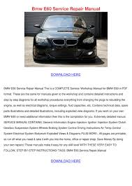 BMW Convertible bmw 328i manual pdf : Bmw E60 Service Repair Manual by IrishGlover - issuu