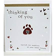 Card For Loss Of Pet Pet Condolence Sympathy Card On The Loss Of Your Pet Dog Amazon