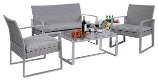 houzz outdoor furniture. Sweet Idea Rattan Patio Furniture 4 Piece Set View In Your Room Houzz Contemporary Outdoor Lounge