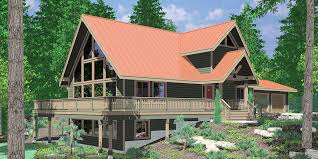 9948 Amazing A Frame House Plan, Central Oregon House Plan, 5 Bedrooms