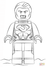 Small Picture Lego Man of Steel coloring page Free Printable Coloring Pages