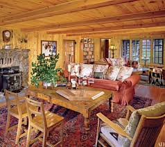 Log cabin interiors designs Cozy Opted For Recycled Materials Whenever Possible For Idaho Lodge The Renovation Was Helmed By Robert C Wyllie Who Retained Original Logs And Also Architectural Digest How To Elegantly Style Log Home Architectural Digest