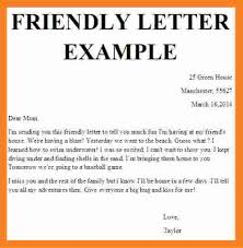friendly letter format template friendly letter example