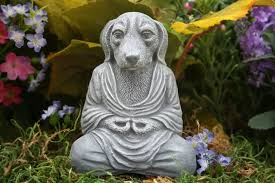 dog garden statue. Dog Buddha Meditating Mongrel Zen Garden Statue By PhenomeGNOME. $24.99, Via Etsy. N
