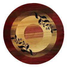 floors rugs border red modern round area for contemporary