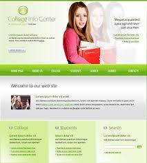 College Templates College Info Center Website Template 6125 Education
