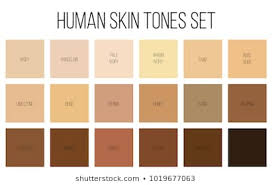 Skin Tone Color Chart Beautiful Skin Tone Stock Illustrations Images Vectors