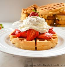 Whipped cream waffles