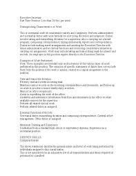 executive secretary job description hashdoc
