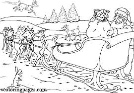 Santa Claus And Reindeer Coloring Pages Pictures To Color With