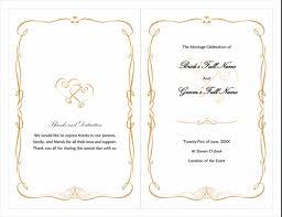 Wedding Program Designs Wedding Program Heart Scroll Design