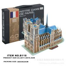 3d drawing model diy toys science education toy stationery enlightenment s souvenir gift for kids cathédrale notre dame de paris novelty gifts