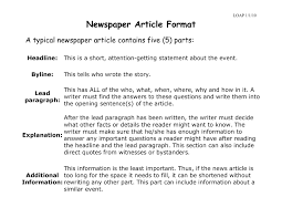 Newspaper Article Template Students Newspaper Article Format History Is Fun