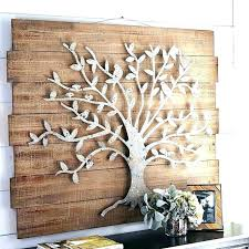 metal palm tree wall art decor round wood and brilliant outdoor