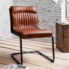 blake brown leather upholstered dining chair modern chairs